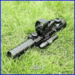 3-9X32EG Illuminated Rifle Scope HD119 Red & Green Dot Reflex Green Laser Sight