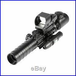 3-9x32EG Rifle Scope Rangefinder Reflex Sight Red&Green Dot Laser Sight Mount