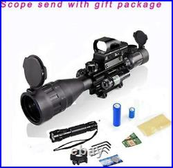 4-16x50AO Rifle Scope Combo Dual Illuminated with Green Laser sight 4 Red/Green