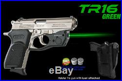 ARMALASER TR16 Green SIGHT Bersa Thunder. 380 CC/Firestorm/Combat/. 22 +Holster