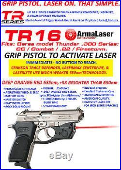 ARMA LASER TR16 RED SIGHT Bersa Thunder. 380 Firestorm/CC/22 Combat 83 withHolster
