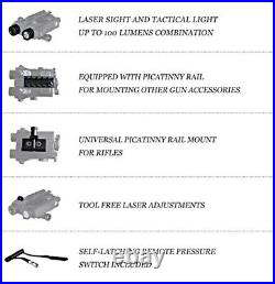 AR OPTICS Gorgon Green Laser Sight / 200 Lumen Tactical Light and Strobe Combo