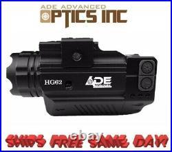 Ade Optics Strobe Green Laser &Flashlight Combo Sight for Full Size &Combat HG62