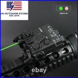 Airsoft Mini DBAL-A2 Green IR Aiming Laser Hunting Light PEQ Laser Sight QD Rail
