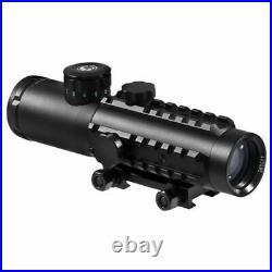 BARSKA 4x30mm IR Electro Sight Multi-Rail Tactical Scope Green Laser Light Combo