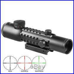 BARSKA Tactical 4x28 Illuminated Electro Sight withGreen Laser Scope Combo DA12192