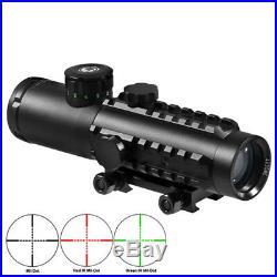 BARSKA Tactical 4x30 Electro Sight 300 LUM Flashlight Green Laser Combo DA12188