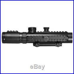 Barska AC11396 3X30 Electro Sight &1X20 with140 LUM Flashlight & Green Laser Combo