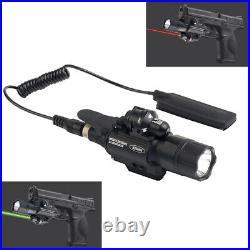 Combo LED Flashlight Green Dot Laser Sight Fit 20mm Rail Pistol Rifle Gun Mount