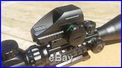 Cvlife Rifle Scope 3 In 1 Combo 4-12x50eg Illuminated Sights Laser Red Dot