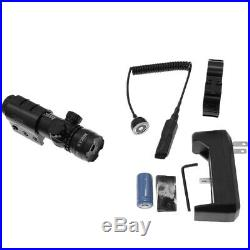 For 532nm Tactical Green Laser Dot Scope Sight Remote Switch 2 Mounts MIR