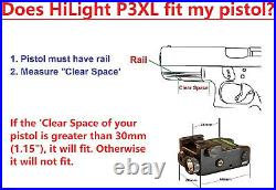 Green Laser Sight Flashlight Gun Pistol Rifle Firearm Handgun Tactical Accurate