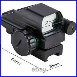Gun Reflex Laser Sight Dot Scope Rifle Shotgun Pistol Red Green Light 4 Reticles