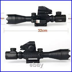 Gun Sight Reflex Dot Laser Scope Optics Rifle Dual Red Green Holographic 3-in-1