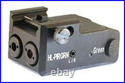HiLight Low Profile PIRGRN Infrared (IR) and Green Dual Laser Sight Combo USB RE
