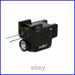 HiLight P3BGL Blue Green Laser Sight Flashlight for Pistols with Micro USB Re