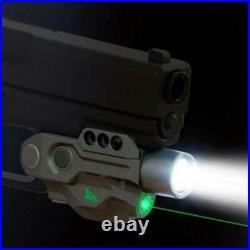 High 450lm Constant/strobe Flashlight With Green Laser Sight Glock 17 18 19 1911