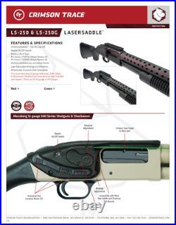 LS-250G LASERSADDLE Green Laser Sight Mossberg 500/590 12 & 20 GAUGE SHOTGUNS