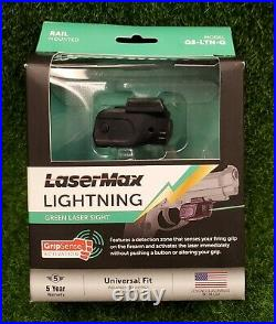 LaserMax Lightning Rail Mounted Green Pistol Laser Sight with GripSense GS-LTN-G