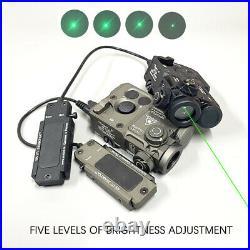 Metal PERST-4 IR Aiming Green VIS Laser Sight Reset to Zero Designator Pointer