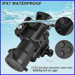 MidTen 1x29mm Red Dot Sight Scope Optics with Green Laser Waterproof Reflex S
