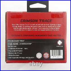 NEW Crimson Trace LG-422G Laserguard GREEN Laser Sight For Sig Sauer P365 Pistol