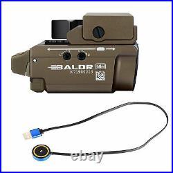 Olight Baldr Mini Desert Tan 600 Lumen Pistol Flashlight with Green Laser Sight