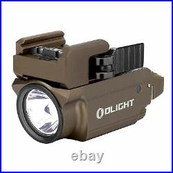 Olight Baldr Mini Tan 600 Lumen Pistol Flashlight with Green Laser Sight