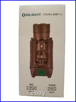 Olight Baldr Pro 1350 Desert Tan with Green Laser Sight and White LED, NEW