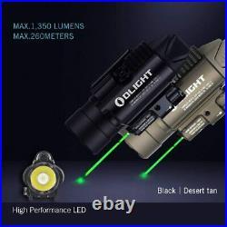 Olight Baldr Pro 1350 Lumens Green Laser LED Tactical Flashlight Gun Sight HOT