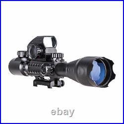 Pinty 4-16x50 Rangefinder Rifle Scope Holographic Reflex Dot Sight Green Laser