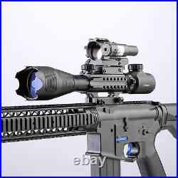 Pinty 5 in1 4-16x50 Rifle Scope W. Green Laser 4 Reticle Dot Sight Scope 45°Mount