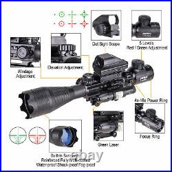 Pinty Rangefinder Rifle Scope 4-16x50 Holographic Reflex Dot Sight Green Laser