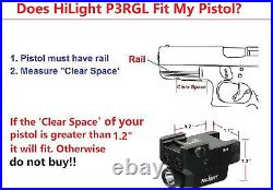 Pistol Flashlight Laser Sight Red Green Tactical Combo Rechargeable Battery NEW