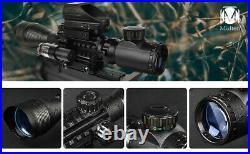 Reflex Dot Gun Sight Laser Scope Optics Rifle Dual Red Green 20mm Mount 3-in-1