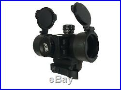 Reflex Red Dot Sight with Red Laser and Built in Quick Detach Picatinny Mount