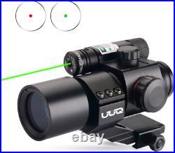 Rifle Combo Gun Sight Red Green Dot Laser Shotgun Optics Scope Picatinny Mount