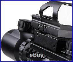 Rifle Gun Sight Scope Optics Holographic Reflex Dot Laser Red Green Riser 4-in-1