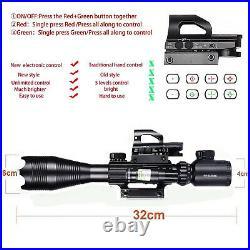 Rifle Gun Sight Scope Optics Reflex Laser Red Green Dot Holographic Multi 3-in-1