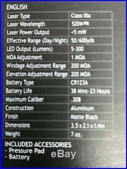 Sightmark LoPro Mini Combo Flashlight & Green Laser Sight SM25012