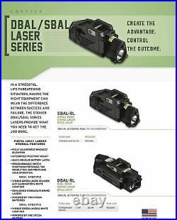 Steiner DBAL-RL Dual Beam Class IIIa Green Visible & IR Laser Sight Black 9027