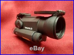 TRUGLO Tru-Tec 30mm Red Dot Sight with Red Laser, 2 MOA Reticle, Matte Black