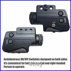 Tactical Flashlight Laser Sight Combo, Bright Green Laser Light Combo, Pistol