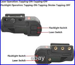 Tactical Gun Flashlight Green Laser Sight Light Pistol Rifle Handgun Shotgun New