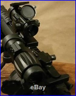 Tactical Package Red Dot Sight 5x Magnifier Green Laser & Bi Pod