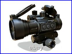 Tactical Red Dot Reflex Sight with Visible Green Gun Laser 20mm Picatinny/Weaver