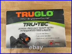TruGlo Tru-Tec 2 MOA 30mm Red-Dot Sight with Red Laser TG8130RN