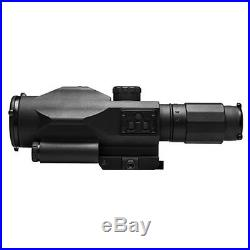 VISM SRT 3-9x42 Armorerd Rifle Scope with Green Laser Sight Fits Picatinny Rails