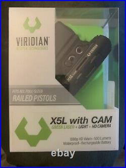 Viridian X5L Gen 3 500 Lumen Green Laser Sight with Tactical Light and HD Camera