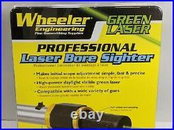 Wheeler Professional Bore Sight Green Laser Caliber For Rifle Handgun 589922